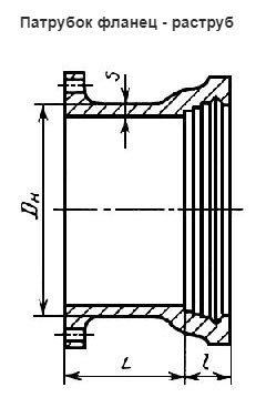Патрубок фланец-раструб ПФР 100
