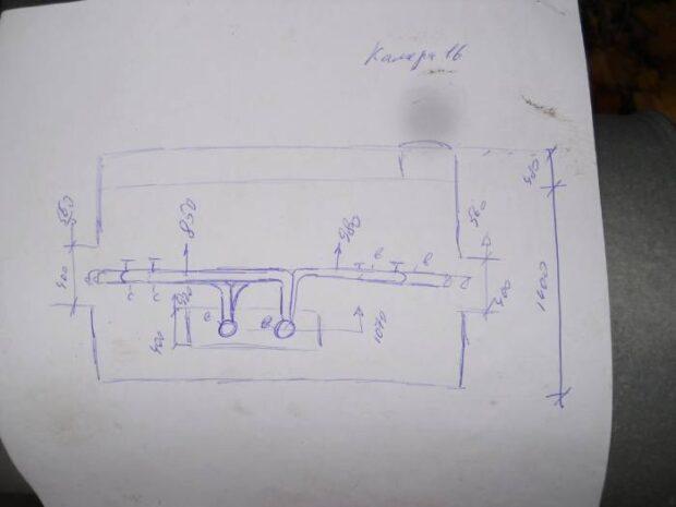 Обмерочный чертеж - вид сборку (разрез)